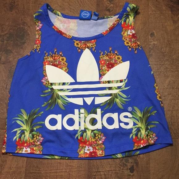 982321b2582 Adidas Tropical Pineapple crop top🍍💪🏻 SZ S. adidas.  M_5b423b5d2beb79a286e9b4b6. M_5b423b705c44528e8aef6d41